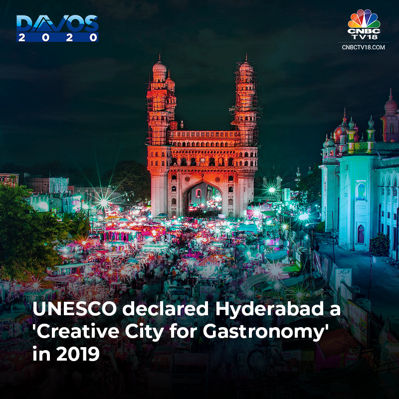 Hyderabad was declared UNESCO's 2019 creative city for gastronomy.