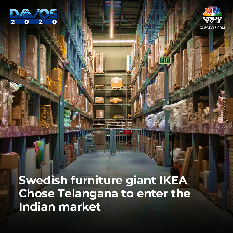 Swedish furniture giant IKEA chose telangana to enter into the indian market.