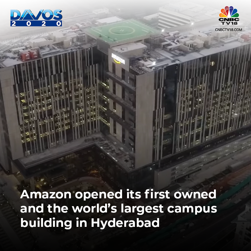 Amazon opened its first owned and the world's largest campus building in hydrabad.