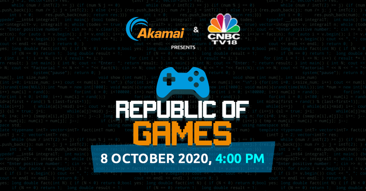 Republic Of Games | Akamai | CNBC-TV18